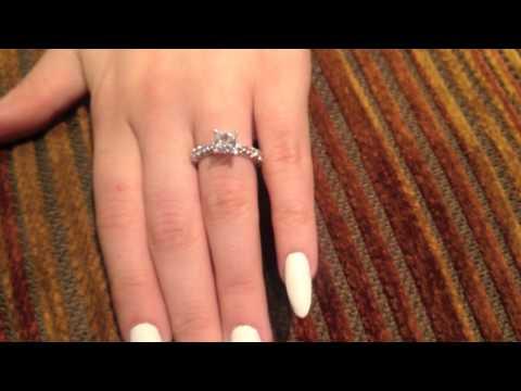 1 ct. Princess cz Engagement Ring