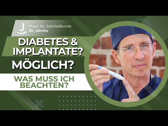 Implantate beim Diabetiker - ist das möglich? | Was muss man beachten?
