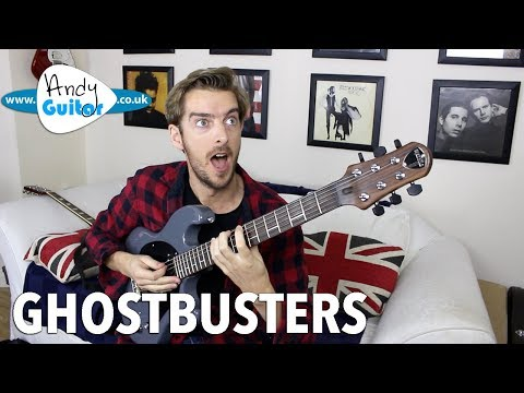 Ghostbusters Song Guitar Lesson Tutorial - All Sections!