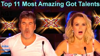 Download All 11 Best Got Talent Auditions! Top Golden Buzzer Worldwide! AGT! BGT! Mp3 and Videos
