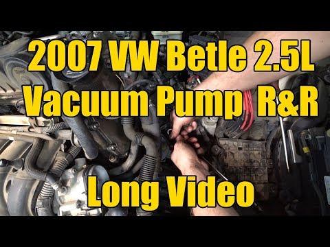 2007 VW Beetle 2 5L Vacuum Pump Long Form Repair