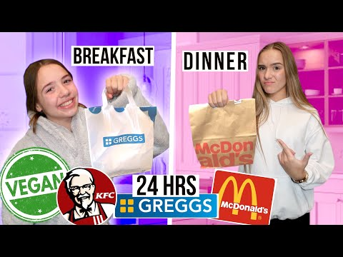 ONLY EATING VEGAN FAST FOOD FOR 24HRS!!