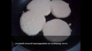 Обычные оладьи на молоке