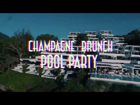Kata Rocks' Signature Champagne Pool Party & Brunch 🍾 🤩
