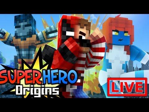 Minecraft Super Hero Origins LIVE #12.2 (Modded Minecraft Roleplay)