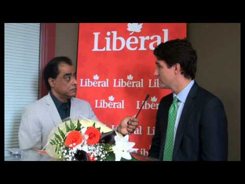 Satpal Singh Johal Interview Justin Trudeau, Leader of Federal Liberal Party, Canada