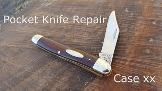 1960's Case Pocket Knife Restoration (Broken Back-spring)