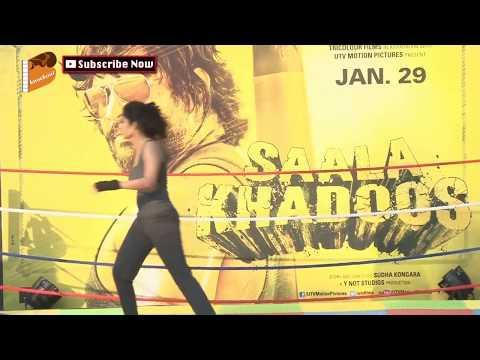 Hot Ritika Singh At Promotion Of Film Saala Khadoos