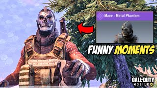 CALL OF DUTY MOBILE - MACE METAL PHANTOM GAMEPLAY IN BATTLEROYALE MODE [FUNNY MOMENTS]