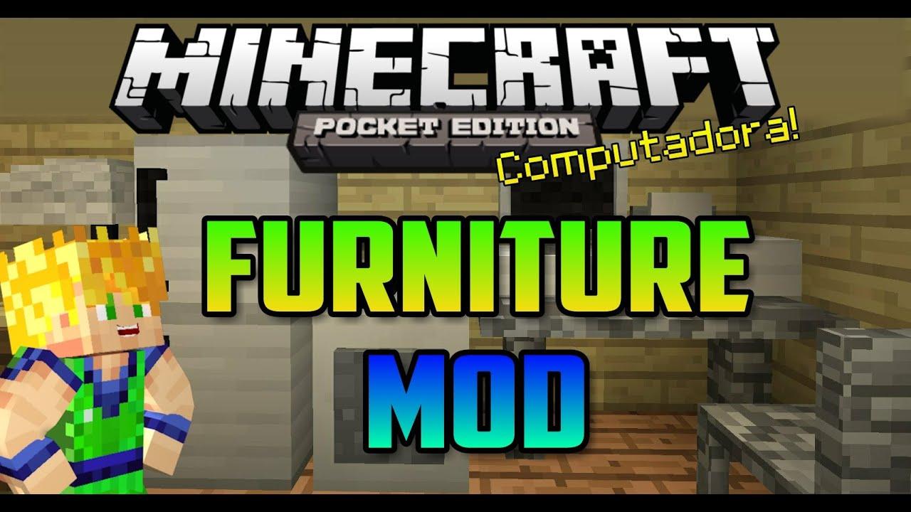Furniture Mod Minecraft Pe Youtube