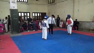 All India Taekwondo Dojang Devli Branch blue chest guard