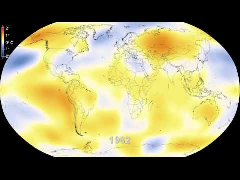 Watch six decades of global warming in 15 seconds