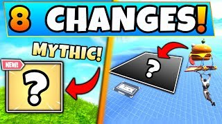 Fortnite Update: MYTHIC RARITY + SECRET CREATIVE ISLAND! - 8 CHANGES in Battle Royale!