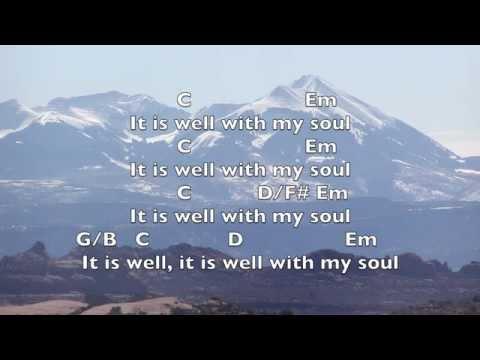 It Is Well Key: G- Lyrics & Chords