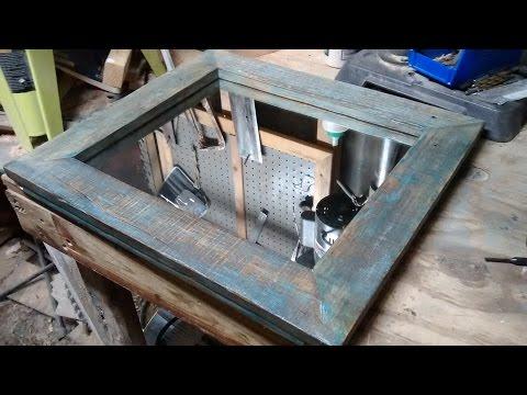 Distressed pallet wood mirror frame