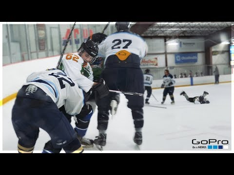 GoPro Hockey | I GOT KNOCKED OUT?! *DIRTY HIT*