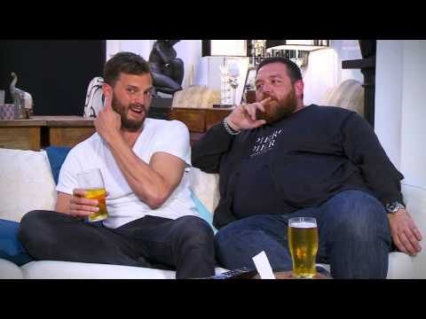 Jamie Dornan and Nick Frost on Celebrity Gogglebox Advert