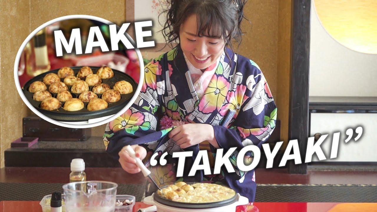 "How To Make ""Samurai Ball"" - Japanese street food | Takoyaki (たこ焼き)"