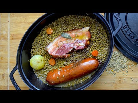 ✨-saucisses-lentilles┃recette-du-chef-cyril-rouquet-prévost