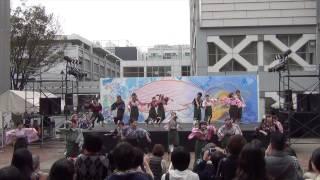 2013.11.03 理工展2013 70名で臨んだ13最後のステージ演舞 〜下駄で地面...