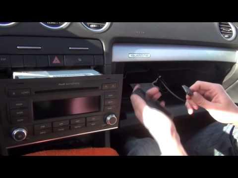 Установка адаптера Yatour на Audi A4 S4 Symphony 2006 2007 2008 USB SD AUX iPhone
