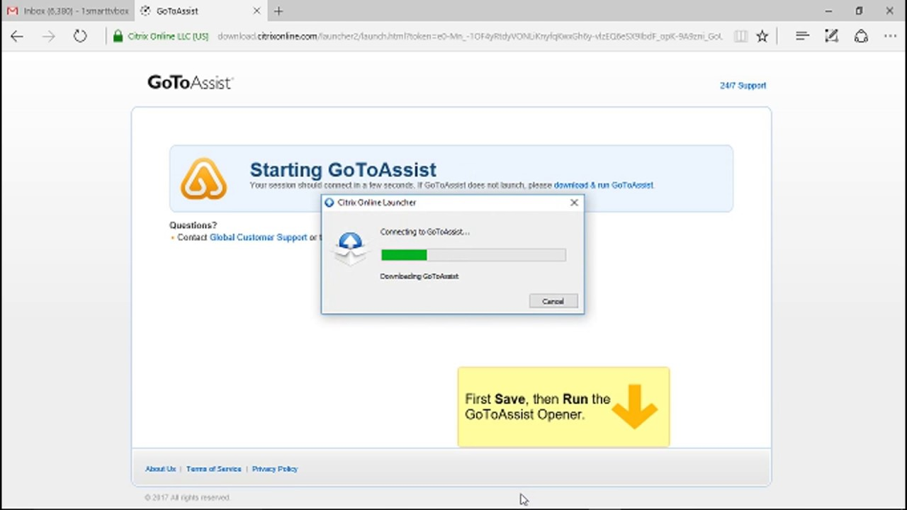 How to use Citrix GoToAssist On windows computer for ...