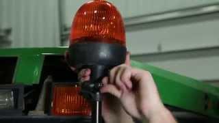 Rotary Beacon Kit on John Deere Tractor