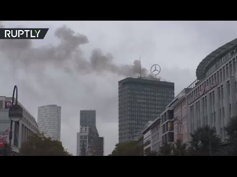 Europa-Center Blaze: Fire breaks out atop iconic Berlin tower