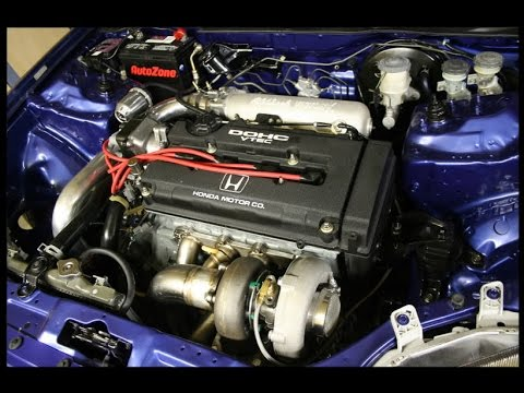 Honda Civic Eg B18 Turbo 2 Run 60 - 200 Km/H Onboard - Fast Civic Turbo  450+ Hp from Hell