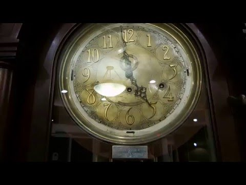 Antique Tiffany Grandfather Clock at The Manor House