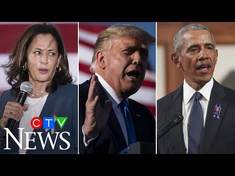 Kamala Harris blasts Trump's 'weird obsession' with Obama