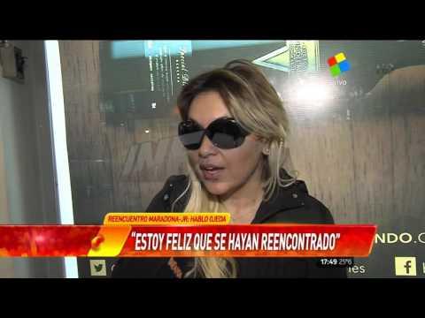 ¿Qué dijo Verónica Ojeda del reencuentro de Maradona y Diego Junior?