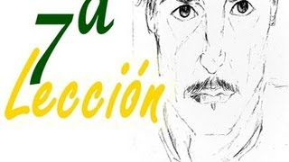 APRENDE A DIBUJAR, ES FÁCIL! Lección 7 - Cara de hombre/Learn to draw, it