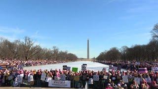 Protesters call on Washington to 'resist' Trump
