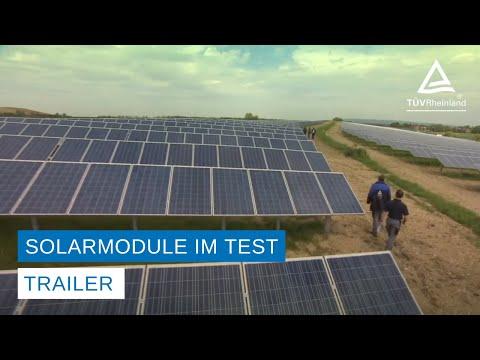 Solarmodule Test – Trailer
