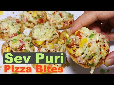 Sev Puri Pizza Bites | Easy & Quick Evening Snacks | Party Appetizer Recipe | Kanak's Kitchen