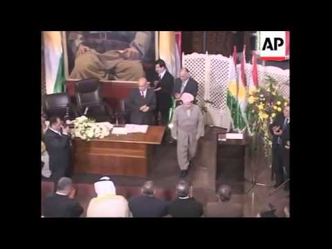 Massoud Barzani sworn in as first president of Iraqi Kurdish region