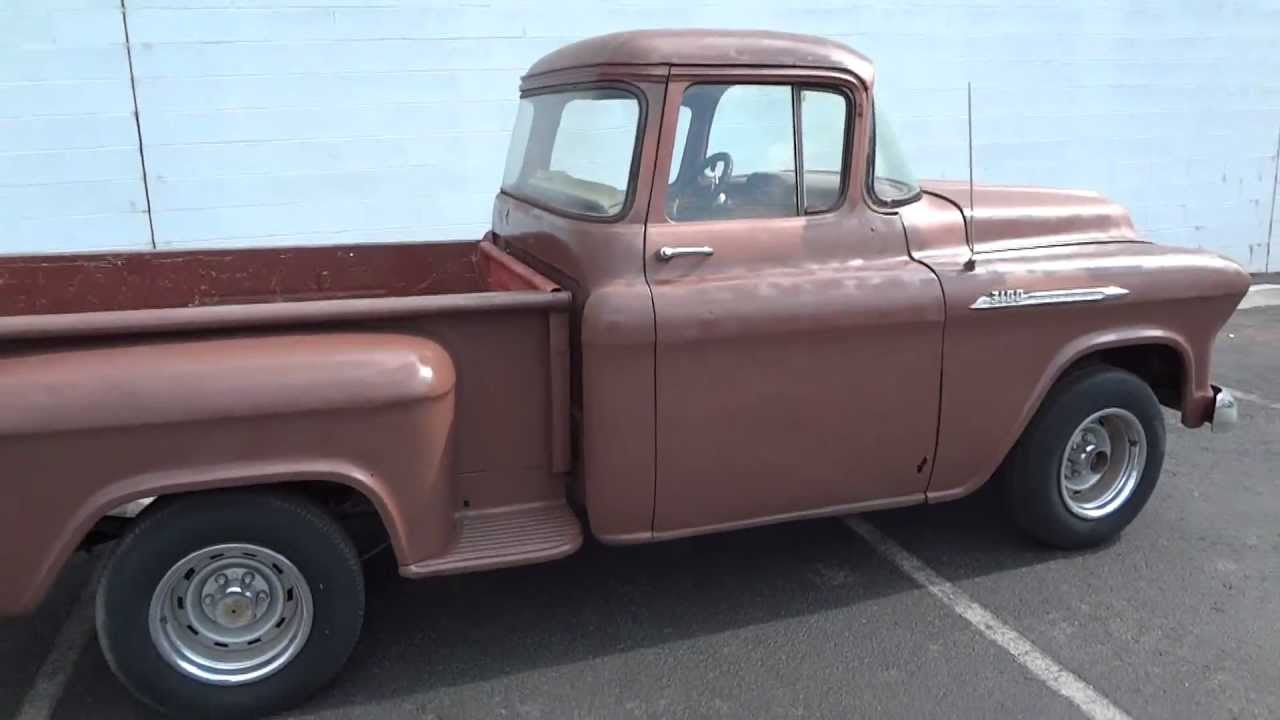 RARE!! 1957 Chevrolet Apache Shortbed Stepside, Original V8 Cab Big ...