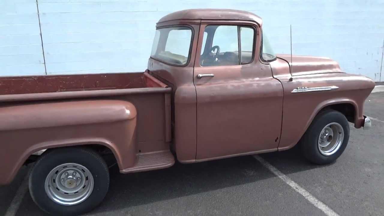 1957 chevrolet apache shortbed stepside original v8 cab big window truck for sale youtube [ 1280 x 720 Pixel ]
