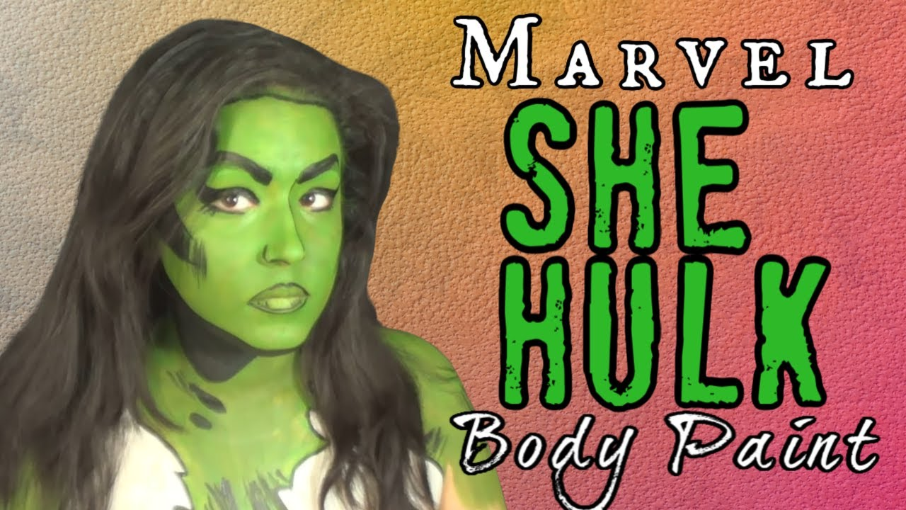 Marvel She Hulk Makeup and Body Paint Cosplay Tutorial (NoBlandMakeup) - YouTube  sc 1 st  YouTube & Marvel She Hulk Makeup and Body Paint Cosplay Tutorial ...