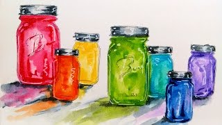 Tutorial: Colorful Glass with Water Based Markers