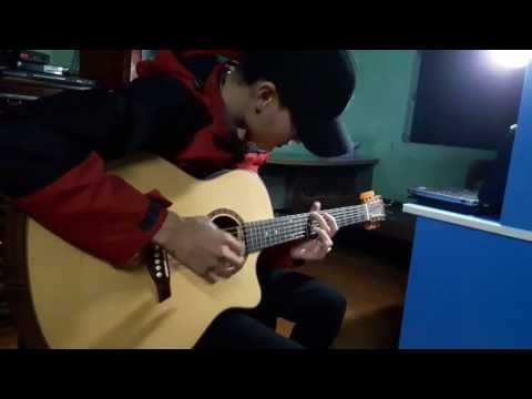 Flaming Sungha Jung by cover Mr.Bin II Guitar bren