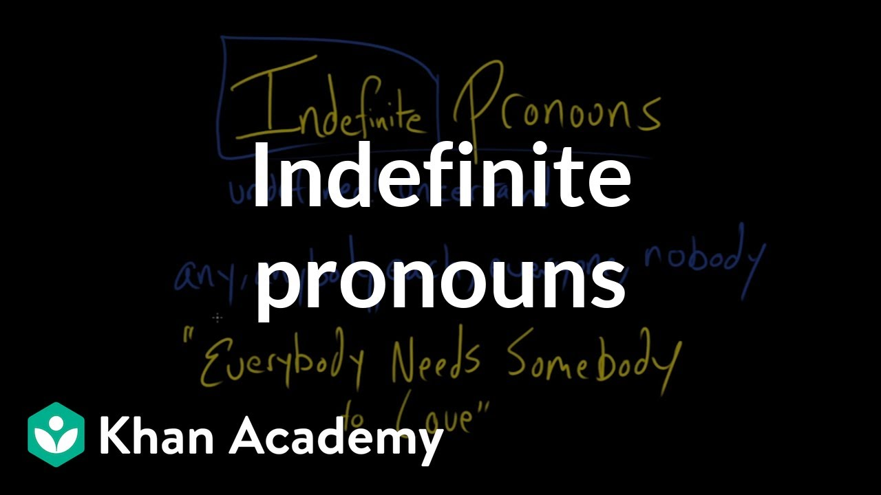 hight resolution of Indefinite pronouns (video)   Khan Academy