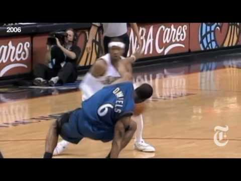 Allen Iverson Double Crossover on Antonio Daniels with 5 angles (2006)