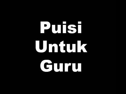 Puisi Guru Paling Sedih 1 Youtube