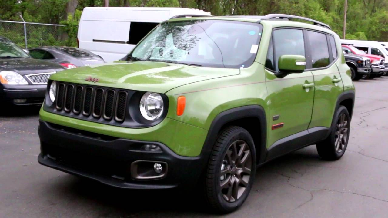 new 2016 jeep renegade 75th anniversary edition jungle. Black Bedroom Furniture Sets. Home Design Ideas