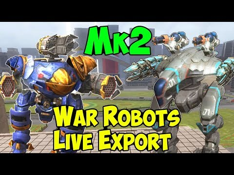 War Robots 2 Hours Mk2 Maxed Exodus, Bulwark, Spark Gameplay WR