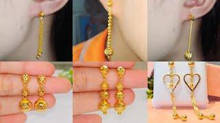 Latest lightweight gold earrings designs