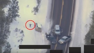 UNEDITED - FBI Drone Footage of LaVoy Finicum shooting in Oregon