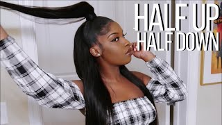 Half Up Half Down Quick Weave Tutorial VSHOW HAIR